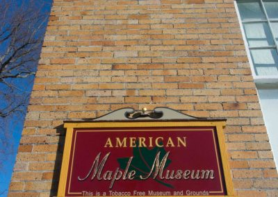 American Maple Museum sign
